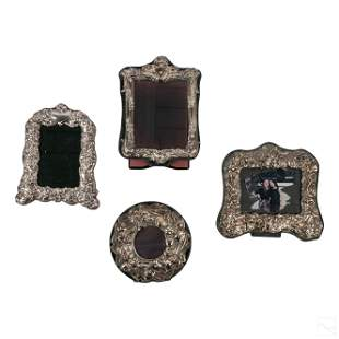 Sterling Silver Floral Photo Picture Frames LOT