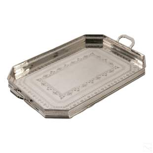 Elkington & Co. English Silver Plated Serving Tray
