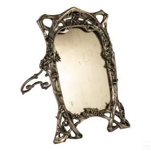 Art Nouveau Style Silver Plate Photo Picture Frame