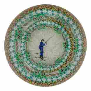 Perthshire Millefiori Fisherman Glass Paperweight