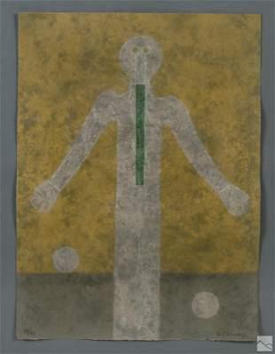 Rufino Tamayo 1899-1991 Abstract Signed Lithograph
