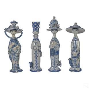 Bjorn Wiinblad Four Seasons Art Pottery Figurines