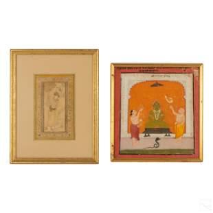 Indo Persian Hindu Antique Miniature Paintings LOT