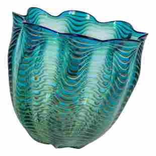Dale Chihuly b.1941 Sea Form Art Glass Vase Vessel