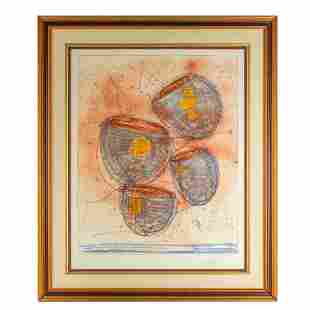 Dale Chihuly b.1941 L/E Colored Engraving SIGNED