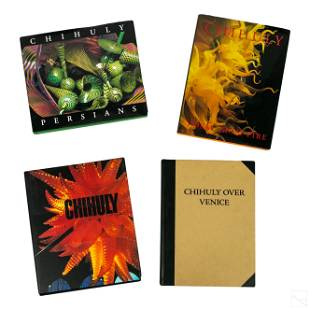 Dale Chihuly Art Glass (4) Coffee Table Art Books