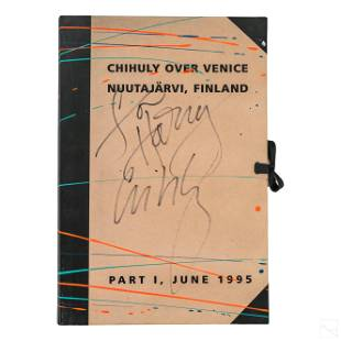 Chihuly Over Venice and Finland Part I Book SIGNED