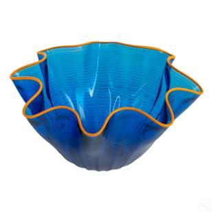 Modern Studio Art Glass Seaform Centerpiece Bowl
