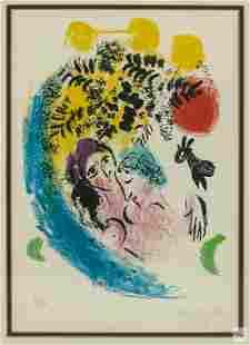 Marc Chagall (1887-1985) Les Amoureux Litho SIGNED