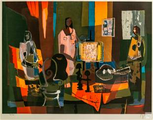 Marcel Mouly 1918-2008 Modern Signed LE Lithograph