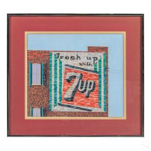 7 Up Gouache Painting attributed to Jack Burgess