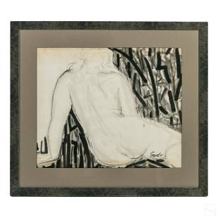 George Segal (1924-2000) Nude Portrait MM Painting
