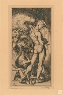 Paul Cadmus (1904-1999) Modern Nude Etching SIGNED