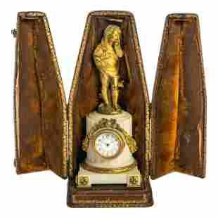 Auguste Moreau 19C French Dore Bronze Ormolu Clock