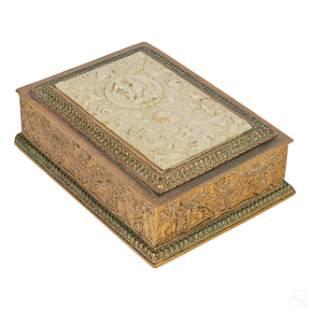 Edward F. Caldwell Gilt Bronze Ivorine Humidor Box
