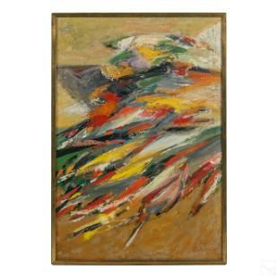 Howard Baer 1906-1986 Modern Abstract Oil Painting