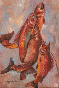Emmanuel Charles 1945-2002 Haiti Folk Art Painting