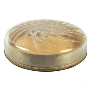 Rene Lalique Quatre Flacons Opalescent Powder Box