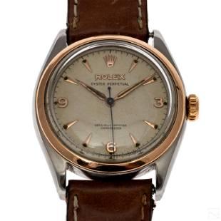 Rolex Oyster 6084 Rose Gold Steel Bubbleback Watch