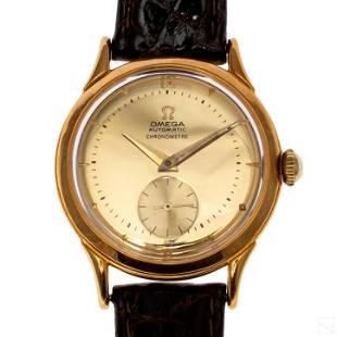 18K Gold Omega Centenary Chronometer Mens Watch