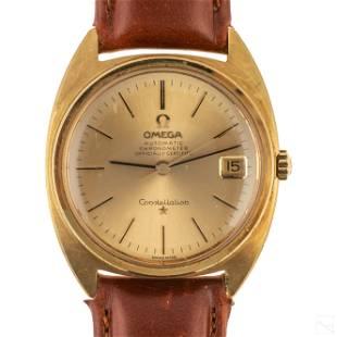 18k Gold Omega Constellation Chronometer Watch