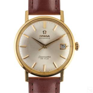 18K Gold Omega Automatic Seamaster Deville Watch