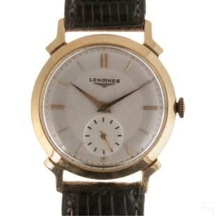 14K Gold Longines Fancy Mens 17 Jewel Wrist Watch