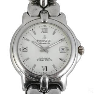 Bertolucci Swiss White Dial Stainless Steel Watch