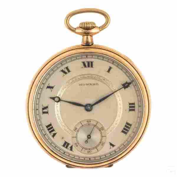 E.Howard Antique 17 Jewel 14k GF Pocket Watch