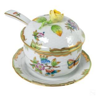 Herend Queen Victoria Porcelain Condiment Jar SET