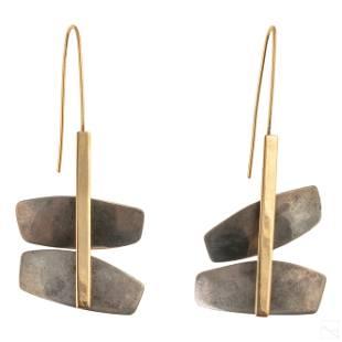 14K Gold Lisa Ceccorulli Sterling Silver Earrings