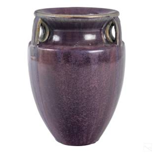 Fulper Pottery Arts & Crafts Lavender Handled Vase