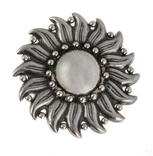 Hector Aguilar (1905-1986) Sterling Silver Sun Pin