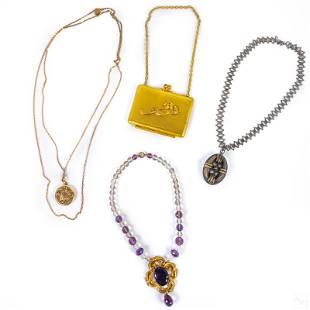 Victorian Antique Pendant Necklace & Case Jewelry