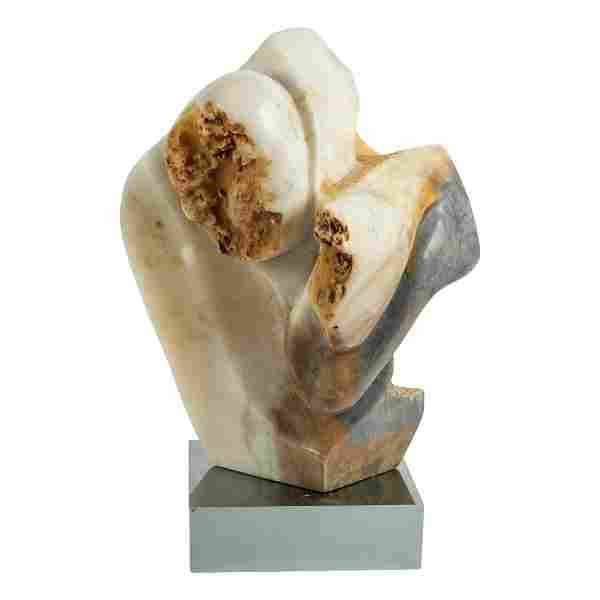Mid Century Modern Abstract Alabaster Sculpture