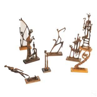 8 Aharon Bezalel 1926-2012 Wood Judaica Sculptures