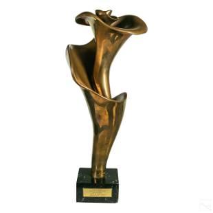 Michael Schreck (1901-1999) Bronze Rose Sculpture