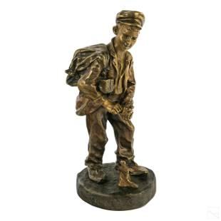Cartier French School Boy Figural Bronze Sculpture