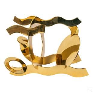 Hans Van De Bovenkamp (b.1938) Brass Art Sculpture
