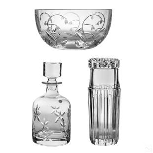 Tiffany & Co. Crystal Bowl Jar Decanter with Boxes