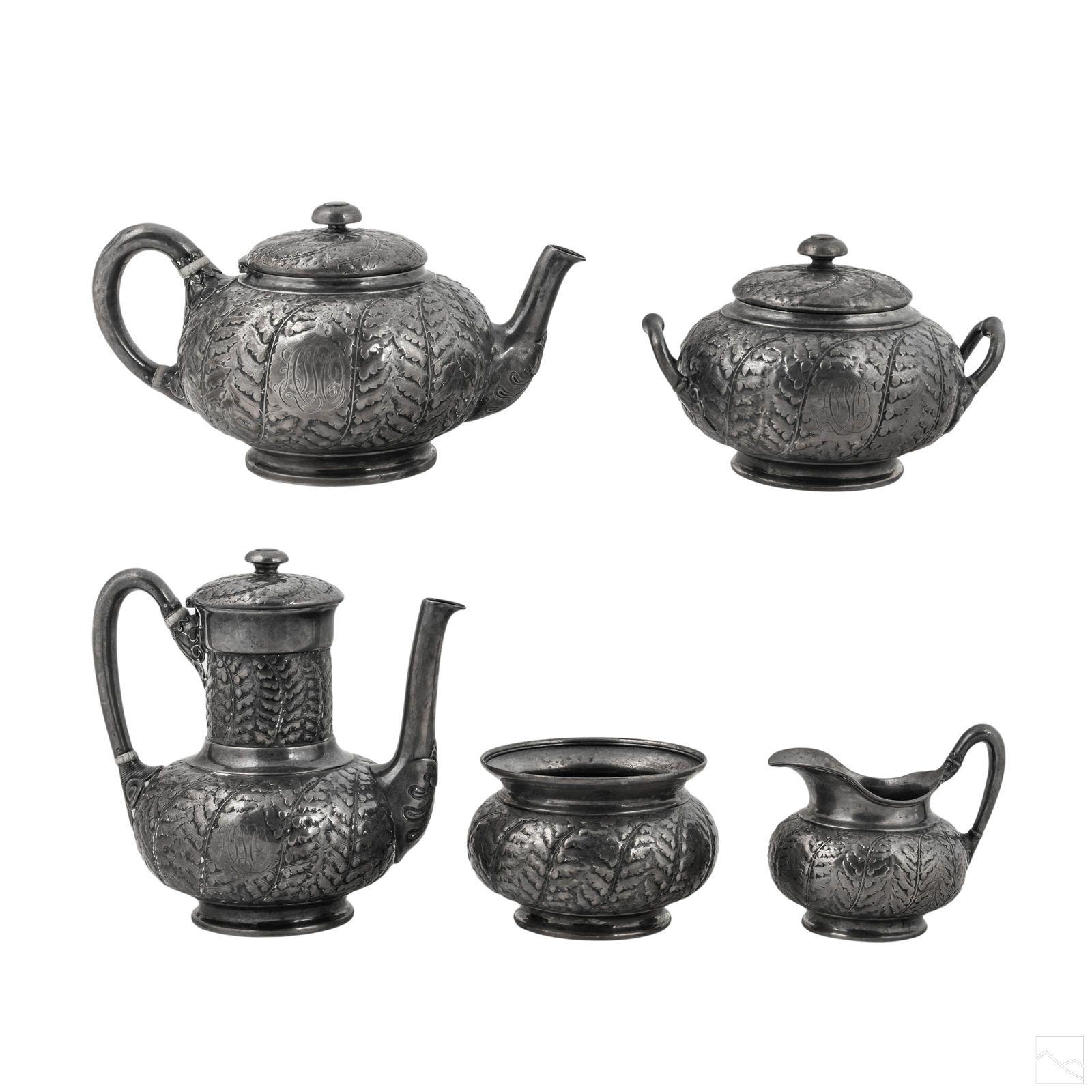 Tiffany & Co. Sterling Silver Tea Coffee Set 2478g
