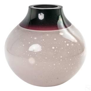 Murano Alfredo Barbini Oggetti Art Glass Ball Vase