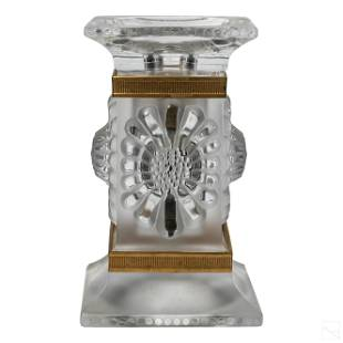 Lalique French Art Crystal Paquerettes Candlestick
