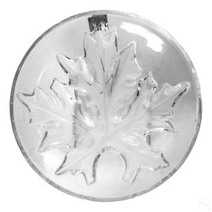 Lalique French Art Crystal Centerpiece Bowl Signed