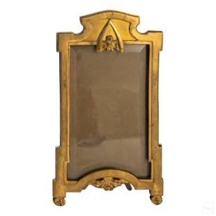 French Art Deco Bronze Antique 4 x 7 Picture Frame