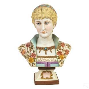 French Victorian Parian Porcelain Bust Sculpture