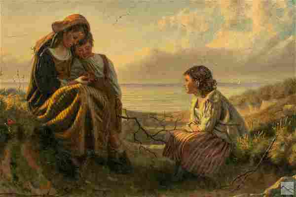 John Haynes Williams 1836-1908 Genre Art Painting