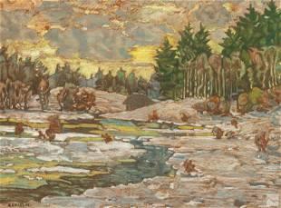 Charles Salis Kaelin 1858-1929 Landscape Painting