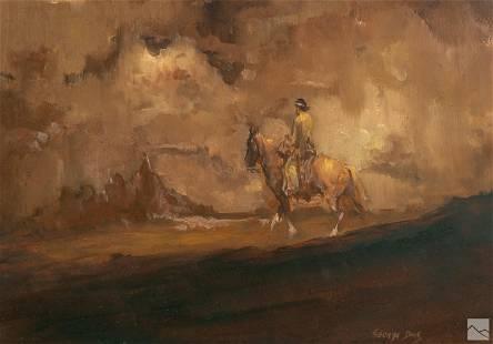 George Dick (1916-1978) Western Landscape Painting