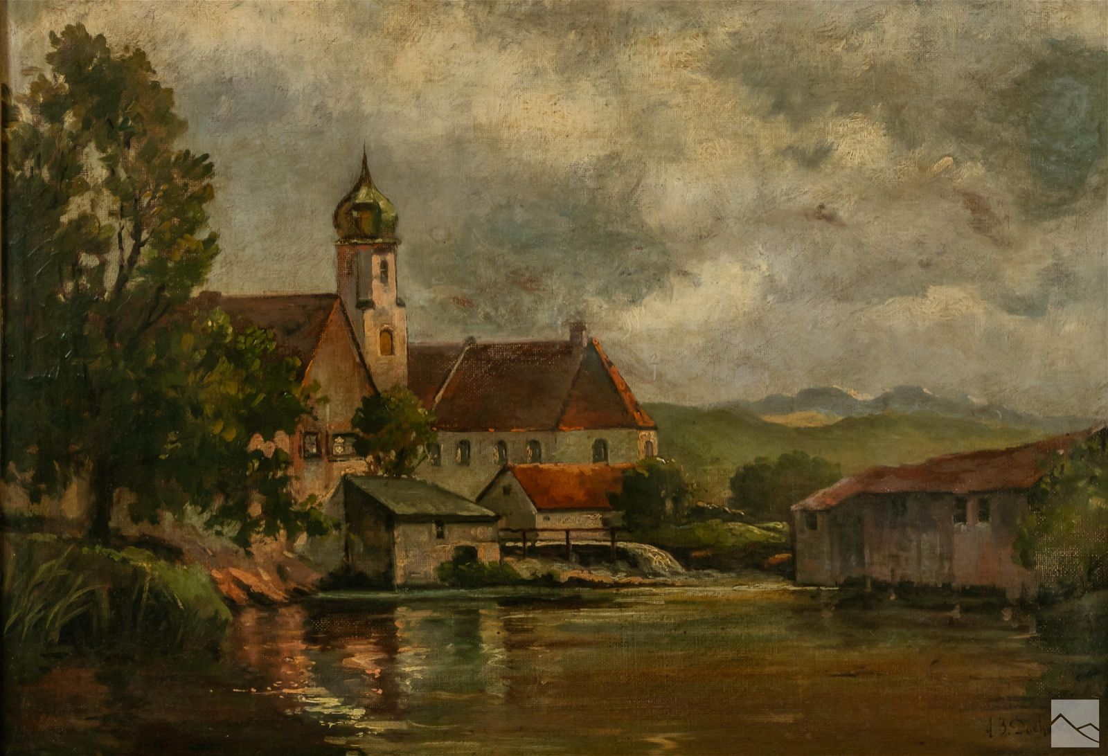 Alexander B. Docharty 1862-1940 Landscape Painting